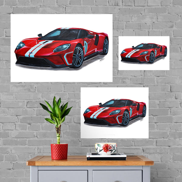 Ford Painting Limited Edition Canvas Print