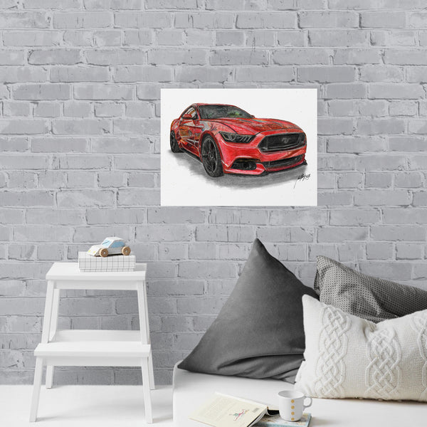 Ford Drawing Limited Edition Canvas Print