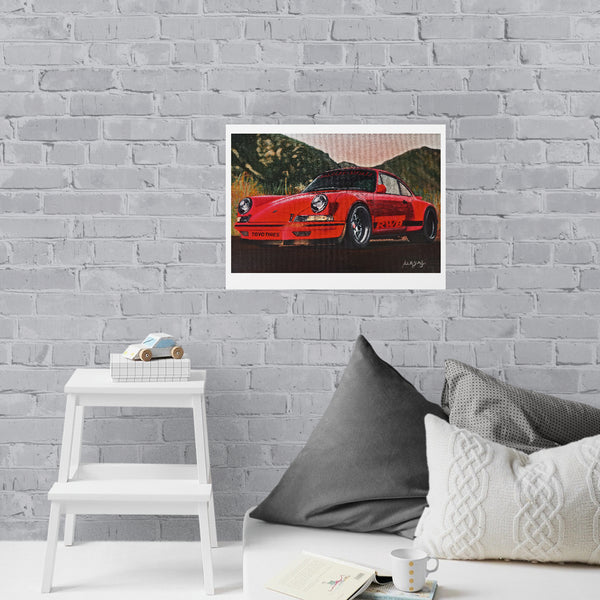 Porsche Painting Limited Edition Canvas Print