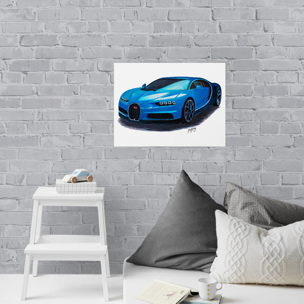 Bugatti Painting Limited Edition Canvas Print