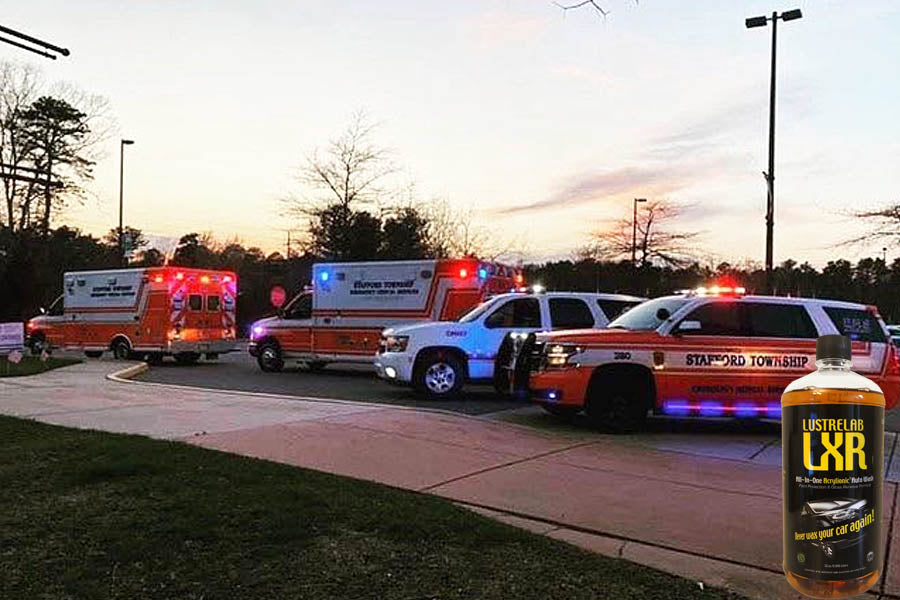 LXR used by first responders to keep their vehicles clean