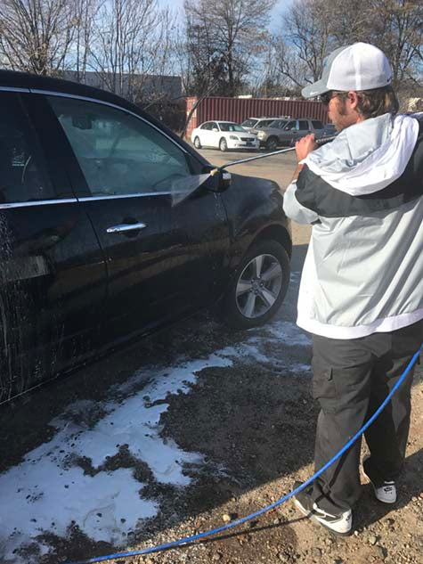 Step 4 rinse outside of car for water sheeting affect