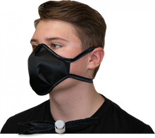 Load image into Gallery viewer, Black INTERCEPT CU22 Mask on Wearer