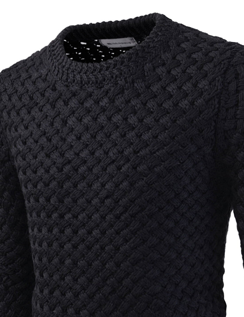 Cranbrook Cross-Knitted Sweater