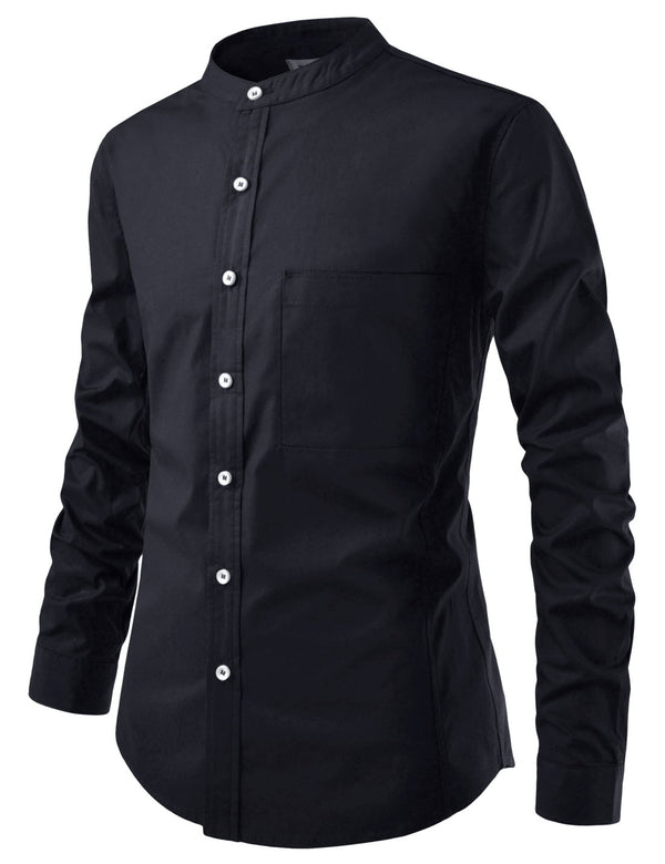 Busan Roll-up Mandarin Collar Shirt