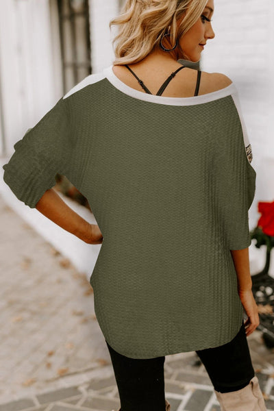 """Ivy"" Green w/ Gold Sequins Detail"