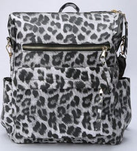 "Load image into Gallery viewer, ""It's A Jungle Out There"" Convertible Backpack Handbag-Vegan Leather"