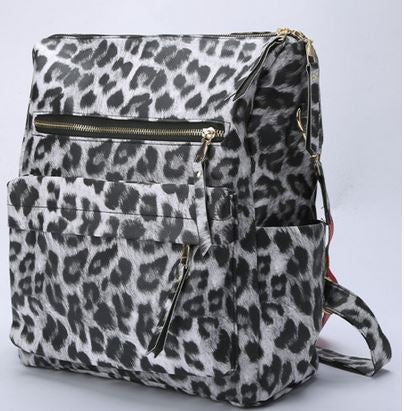 """It's A Jungle Out There"" Convertible Backpack Handbag-Vegan Leather"