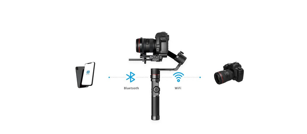FeiyuTech-AK4000-DSLR-Camera-Handheld-Stabilizer-Gimbal-Payload-4KG-content-WiFi-Bluetooth-dual-module-connection