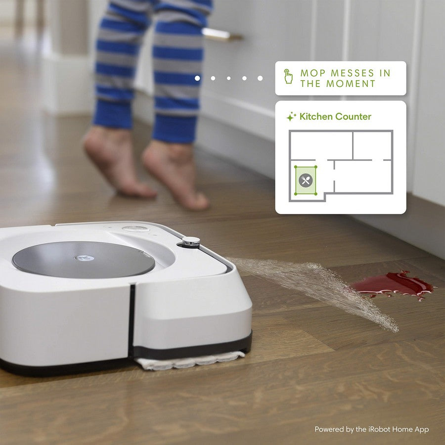iRobot Braava jet m6 Wi-Fi Connected Robot Mop-Mops messes in the moment