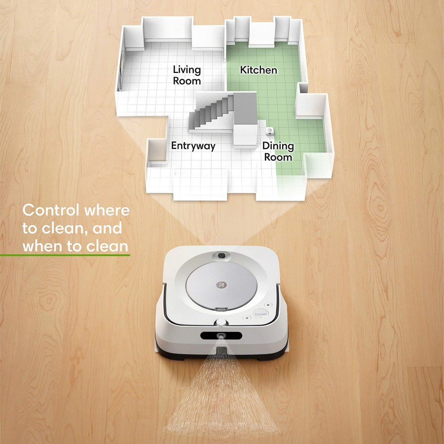 iRobot Braava jet m6 Wi-Fi Connected Robot Mop-Complete control of your clean