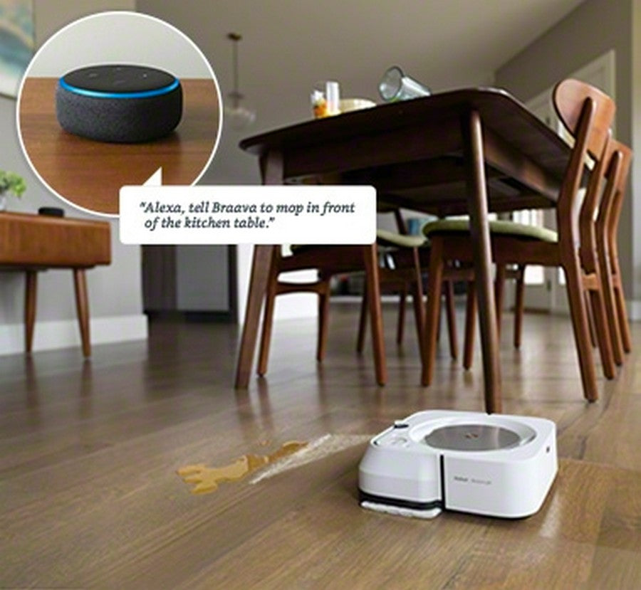 iRobot Braava jet m6 Wi-Fi Connected Robot Mop-Clean without lifting a finger