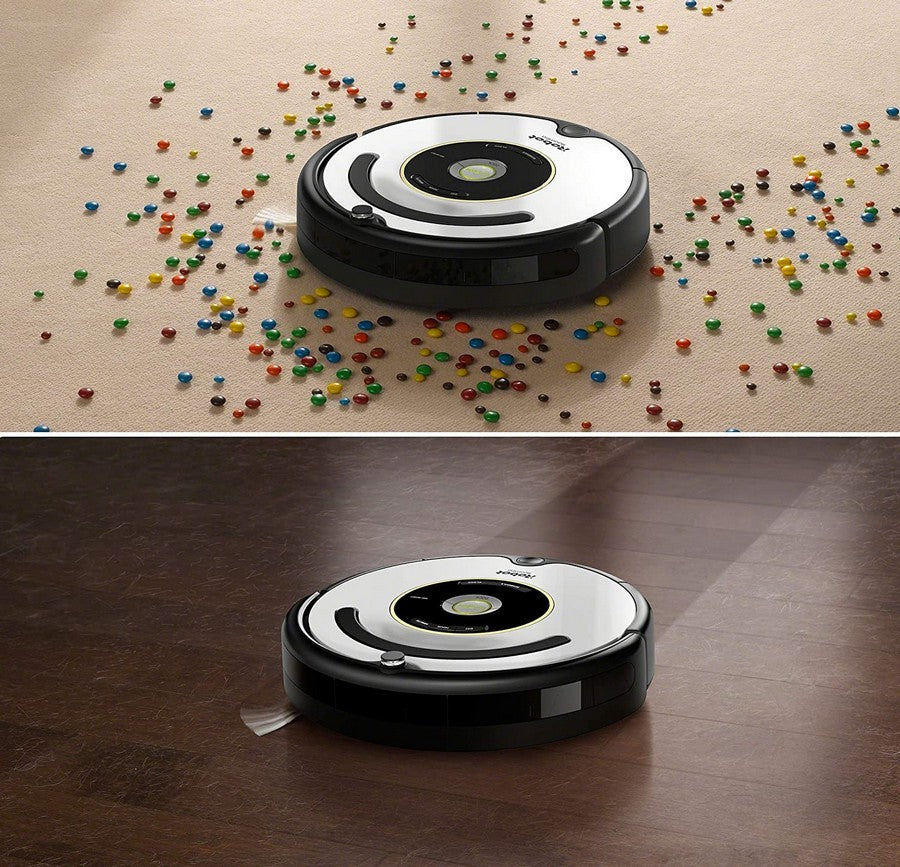 iRobot Roomba 615 Vacuum Cleaner - The patented 3-stage cleaning process