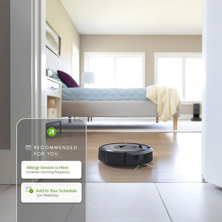 iRobot Roomba i7+ Wi-Fi Connected Self-Emptying Robot Vacuum -A clean unique to you
