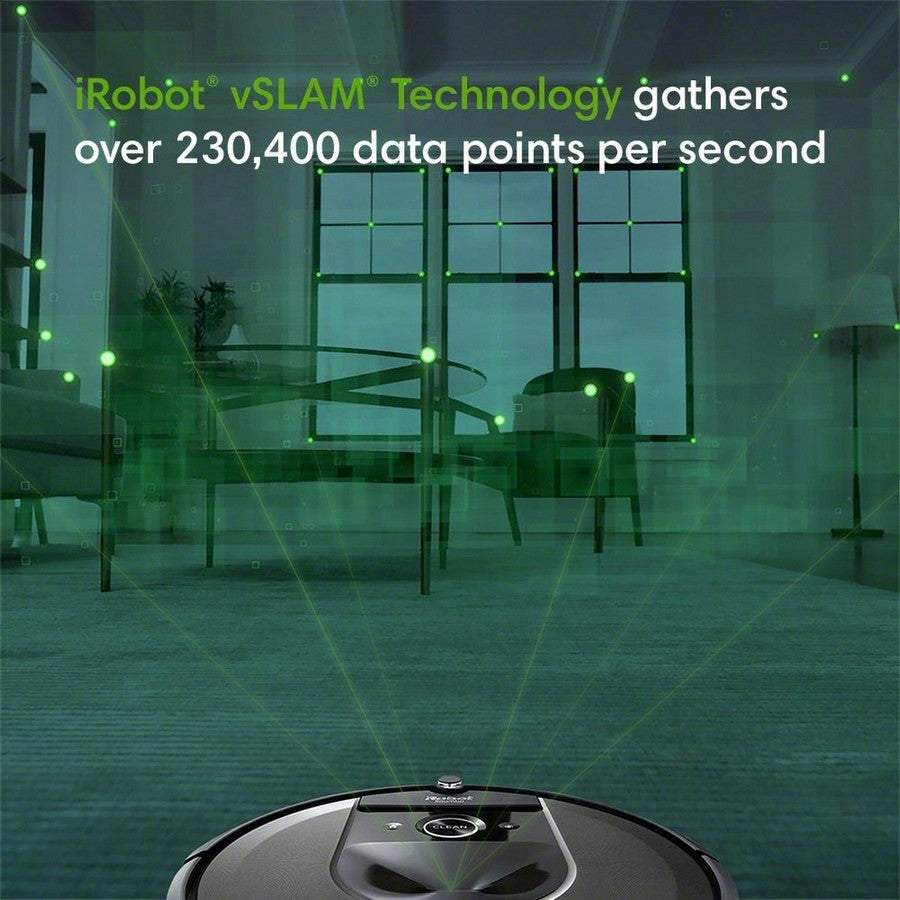 iRobot Roomba i7+ Wi-Fi Connected Self-Emptying Robot Vacuum -Guided by serious smarts