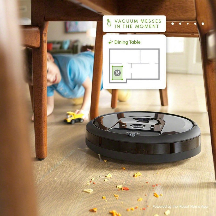 iRobot Roomba i7+ Wi-Fi Connected Self-Emptying Robot Vacuum -Vacuums messes in the moment