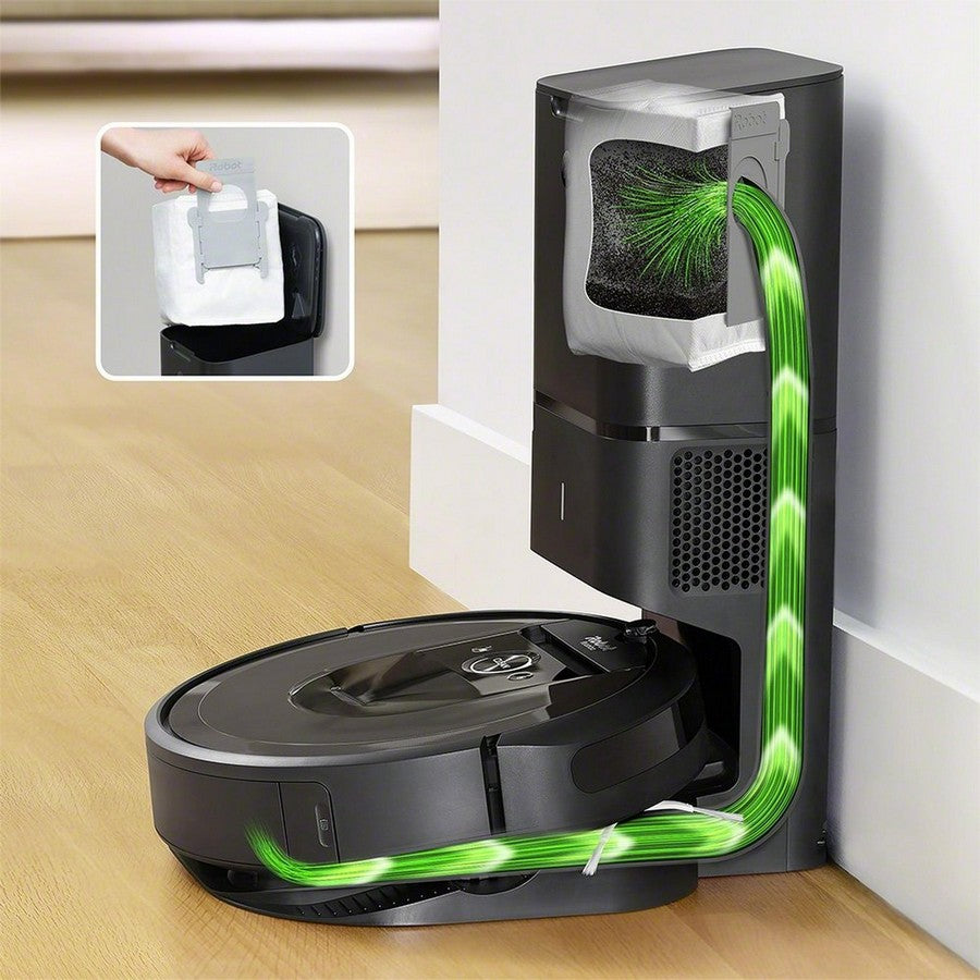 iRobot Roomba i7+ Wi-Fi Connected Self-Emptying Robot Vacuum -Cleans up after you, and itself