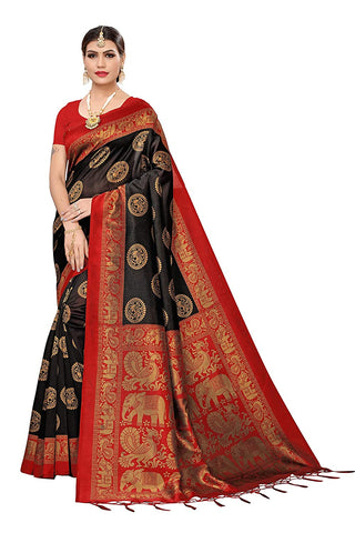 Designer Women's Art Silk Saree With Blouse