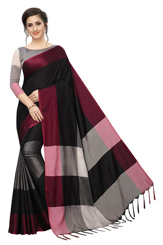 Women`s Art Silk saree with Blouse Piece