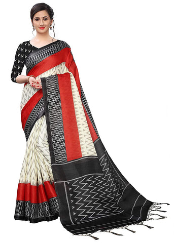 Women's Khadi Silk Saree With Blouse Piece