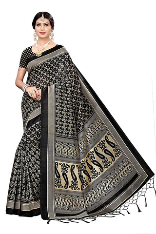 DESIGNER Women's Art Silk Saree with Blouse Piece
