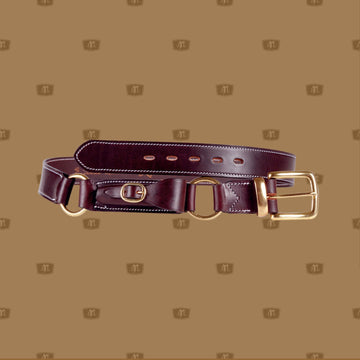 Quality Australian made leather hobble belt with pouch