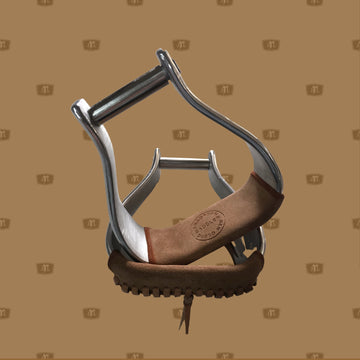 Saddle with Stirrups - leather tread oxbows