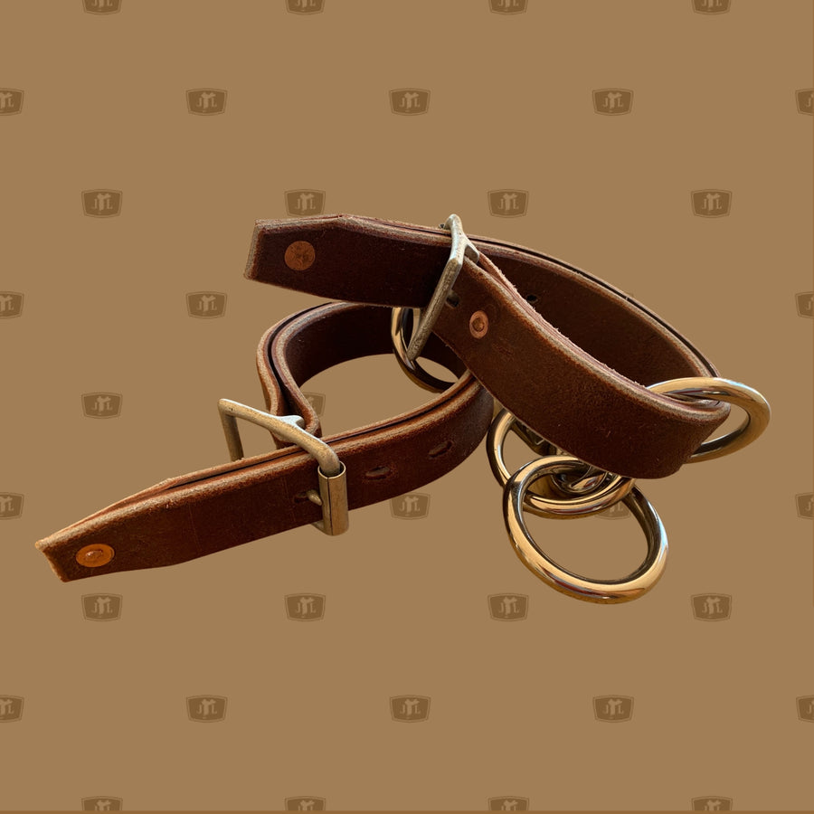 Leather Hobbles (adjustable) with chain  Featuring adjustable straps