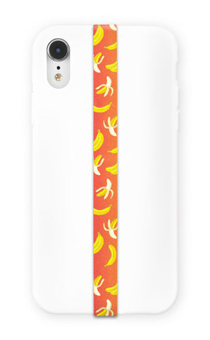 phone strap grip banana peel orange yellow