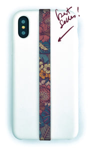 phone strap grip holder flower floral carpet hotel pattern vintage wallpaper