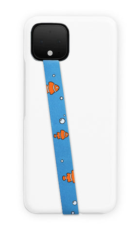 phone strap grip holder clownfish orange blue sea