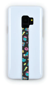 phone strap grip holder 80s 80 generation x analog pastel