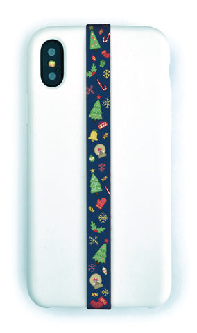 phone strap grip holder christmas xmas trees holidays