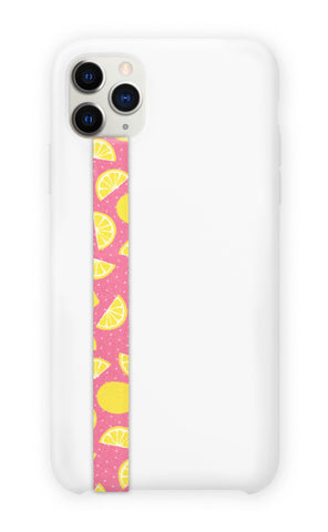 phone strap grip holder limonade lemonade lemon citron orange yellow
