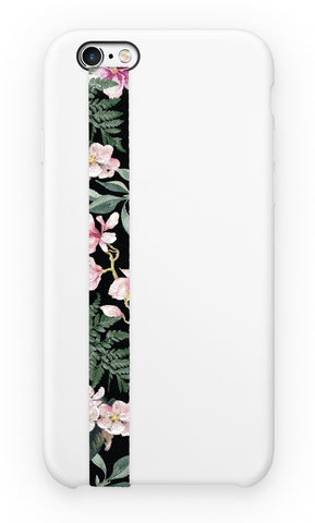 phone strap grip holder flowers floral pink green pattern