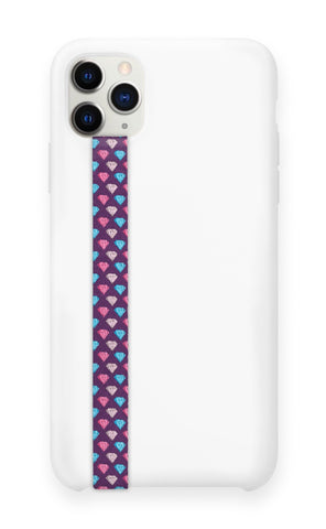 phone strap grip holder diamond purple blue red 24 carat
