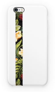 phone strap grip holder floral flower plants nature yellow red