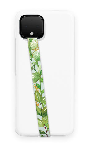 phone strap grip holder foliage leaves floral flower plants nature green