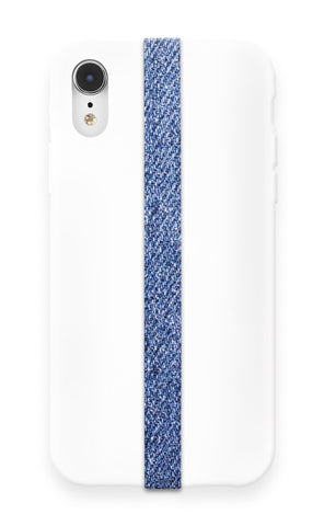 phone strap grip holder jeans blue texture