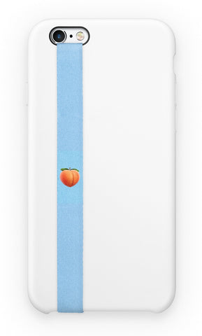 phone strap grip holder peach blue