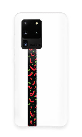 phone strap grip holder red hot chili pepper
