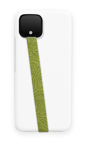 phone strap grip holder green topo map