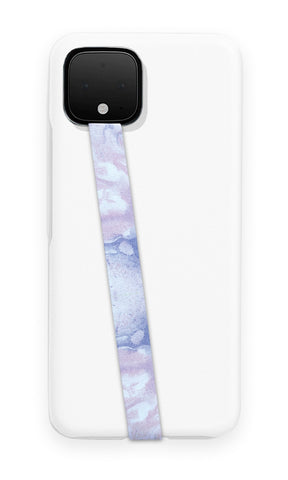 phone strap grip holder water marble galaxy