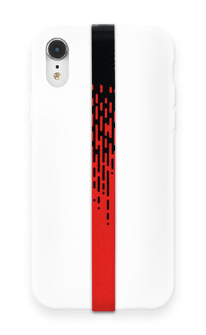 phone strap grip holder half tone halftone red black