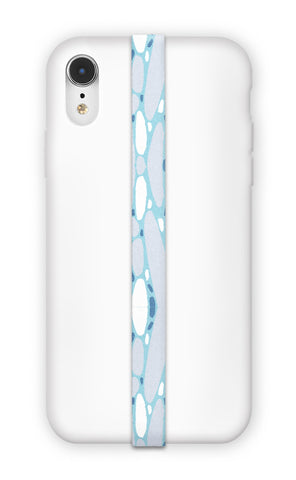 phone strap grip holder terrazzo blue abstract