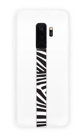 phone strap grip holder zebra stripes black white