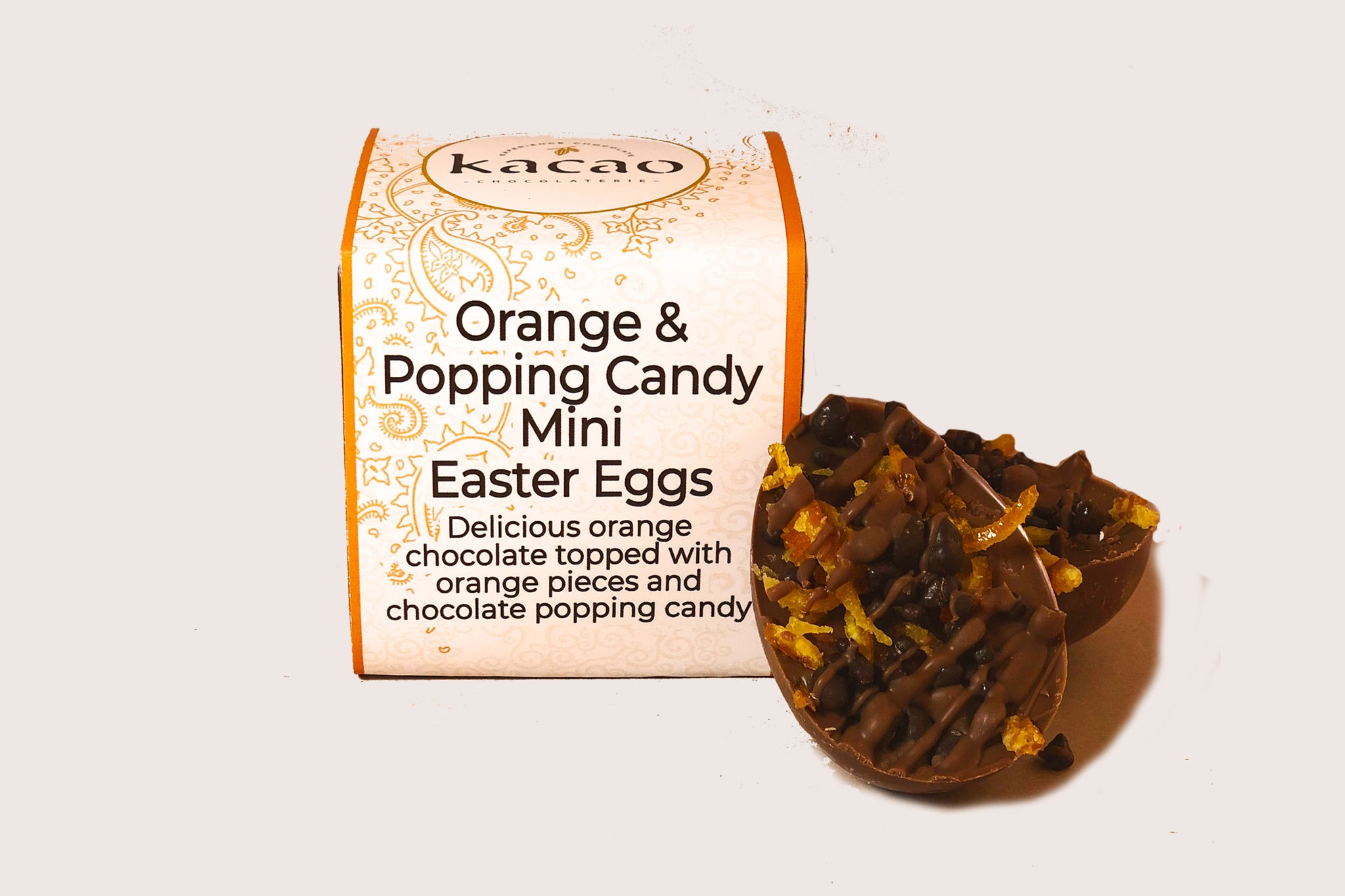 Orange and Popping Candy Mini Eggs