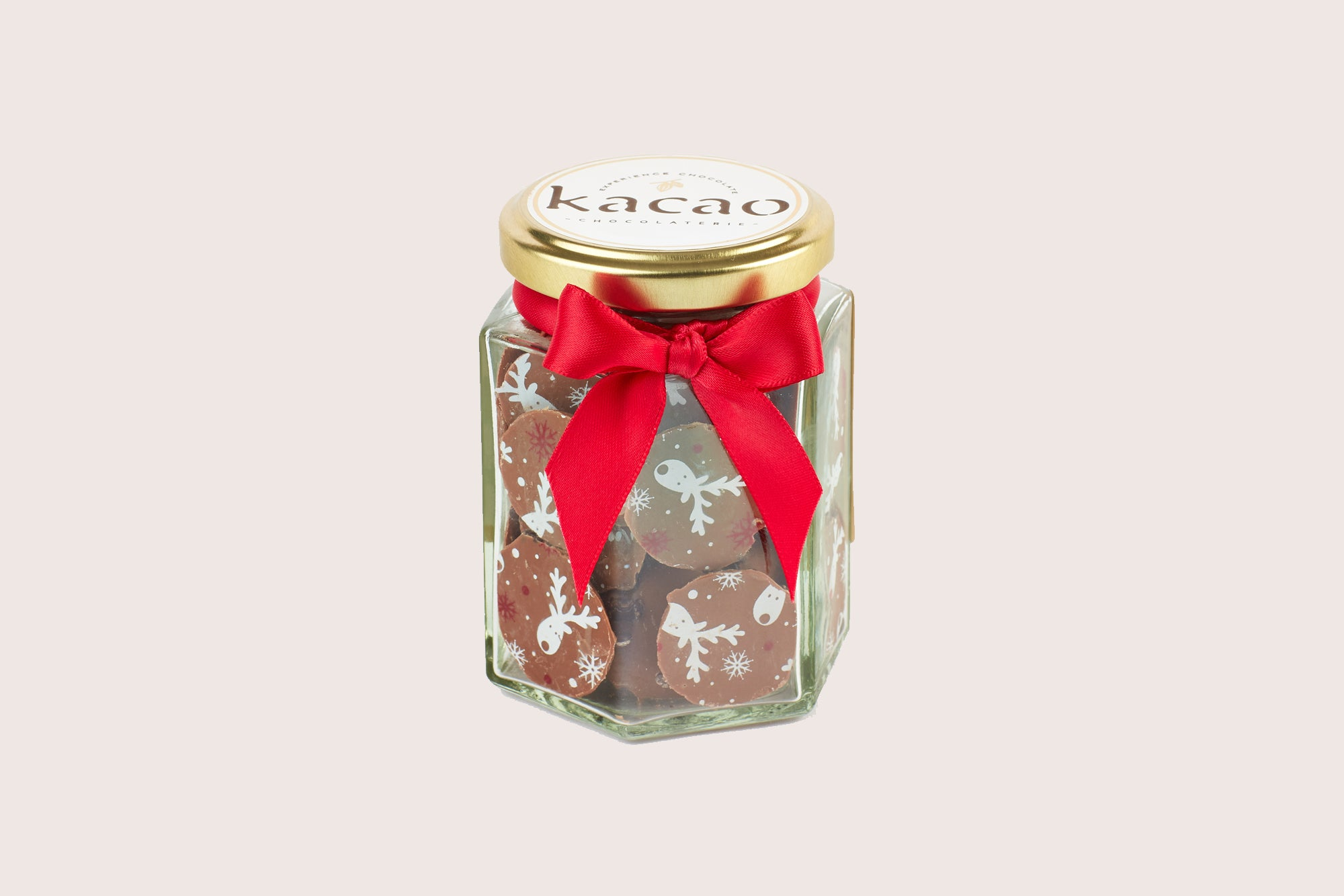 Milk Chocolate Christmas Buttons with Popping Candy