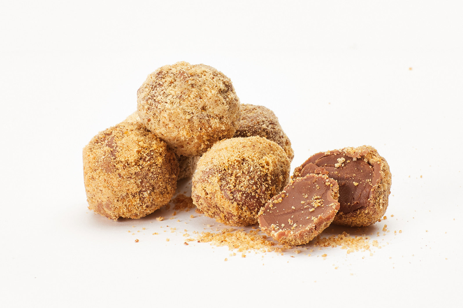 Hazelnut and Almond Praline Truffles