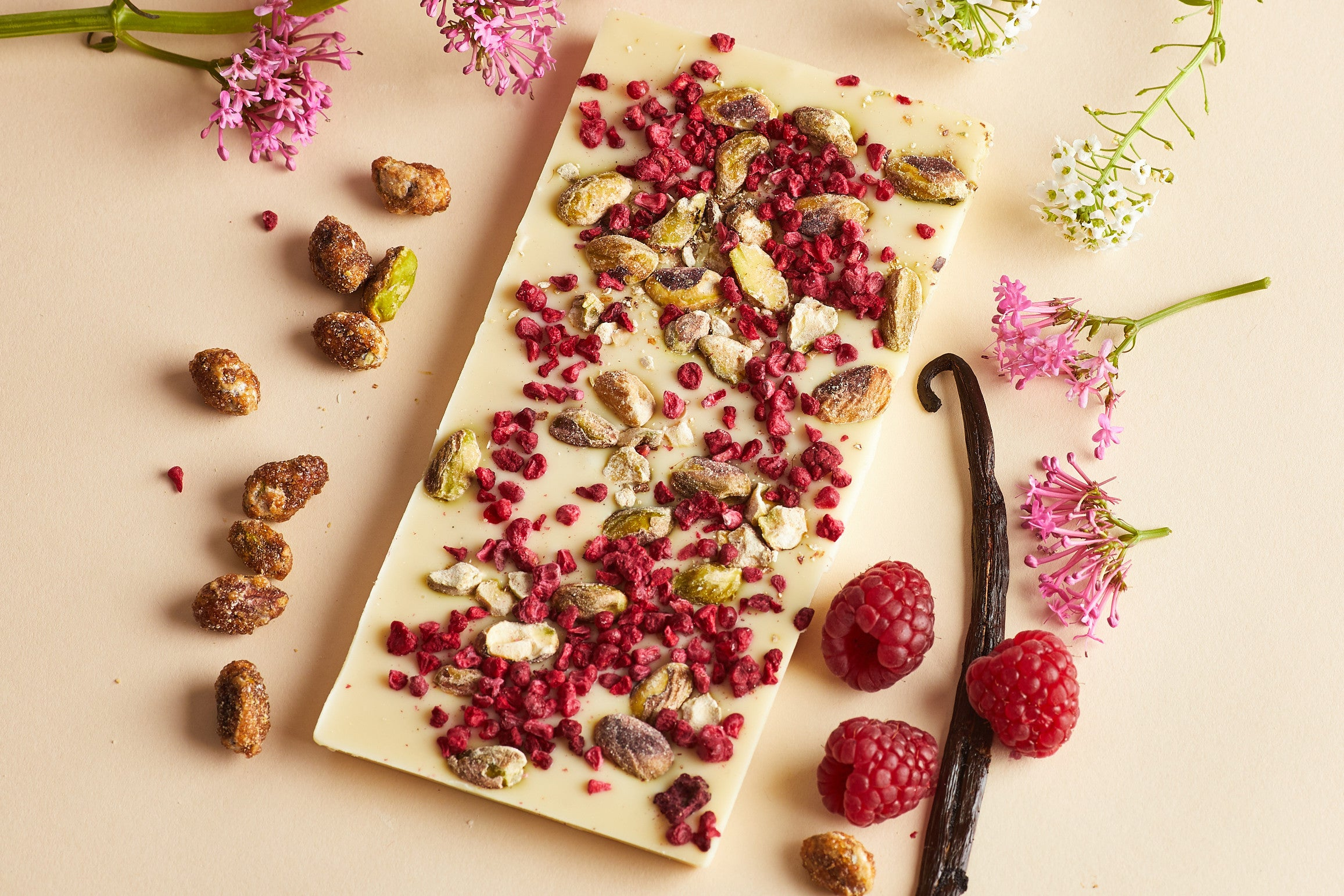 Vanilla, Raspberry and Pistachio Bar